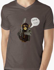 Punk Chimp Mens V-Neck T-Shirt