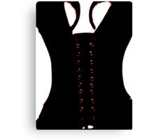 Medieval Sexy Warrior Women Costume corset  Canvas Print