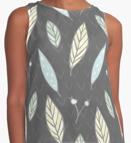 Autumn leaves nature pattern Contrast Tank