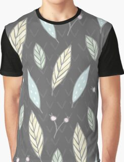 Autumn leaves nature pattern Graphic T-Shirt