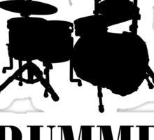 Drummer (Black) Sticker