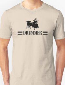 Drummer (Black) Unisex T-Shirt