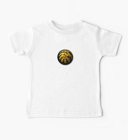 Black Yellow Abstract Globe Baby Tee