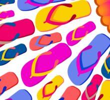 Flip Flops Sun rays Sticker