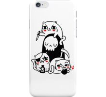 murder cat iPhone Case/Skin