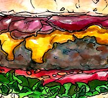 bacon cheeseburger by Ashley Peppenger