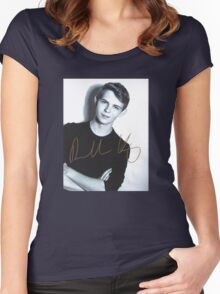 Robbie Kay autograph Women's Fitted Scoop T-Shirt