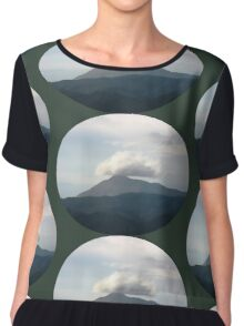 top of the mountain paintwork Chiffon Top