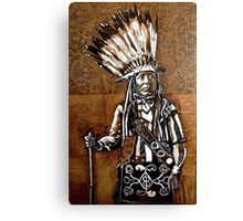 Indian with rifle Canvas Print