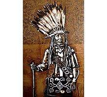 Indian with rifle Photographic Print