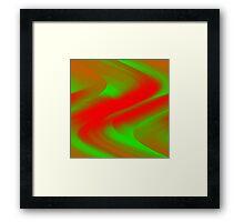 DREAM PATH (Greens & Reds)-(9000 x 9000 px) Framed Print