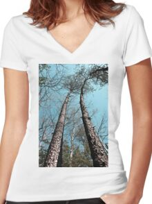 Twin Towers Women's Fitted V-Neck T-Shirt