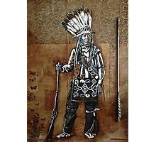 Indian with Rifle and Arrow Photographic Print