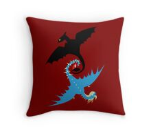How to Train Your Dragon - Toothless and Stormfly Throw Pillow