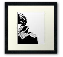 Curls and a Coat Framed Print