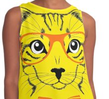 Hipster Cat  Contrast Tank
