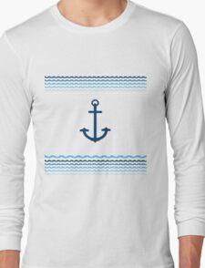 Yacht Boat Anchor Nautical Marine Long Sleeve T-Shirt