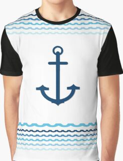 Yacht Boat Anchor Nautical Marine Graphic T-Shirt