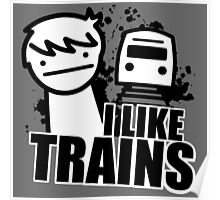 I Like Trains - asdfmovie Poster
