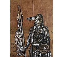 Indian with spear Photographic Print