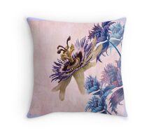 Passion Flower, Throw Pillow , Throw Pillow