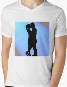 Silhouette Lovers Mens V-Neck T-Shirt
