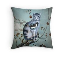The Blue Cat Throw Pillow