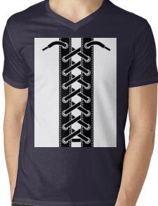 Corset lacing Mens V-Neck T-Shirt