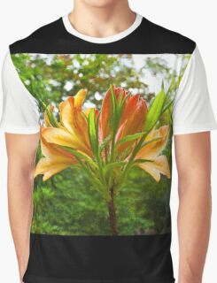 Rhododendron flower bloom with texture. Graphic T-Shirt