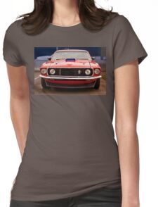 Mustang front Womens Fitted T-Shirt