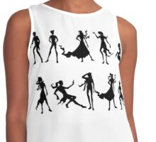 silhouettes  Contrast Tank