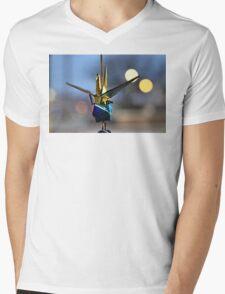 Crane Luck Mens V-Neck T-Shirt