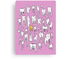 Tooth or Dare, Bold Illustration Canvas Print