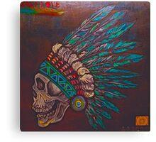 Indian skull Canvas Print