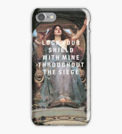 lock your shield iPhone Case/Skin