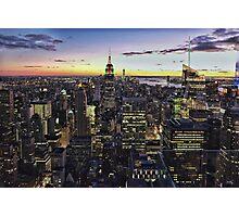 New York City Skyline - NYC - Night Photographic Print