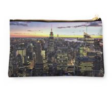 New York City Skyline - NYC - Night Studio Pouch