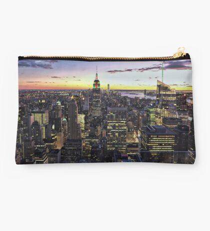 New York City Skyline - NYC - Night Studio Pouch