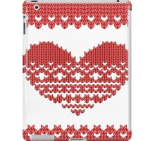 Red Knitted Look Love Heart  iPad Case/Skin