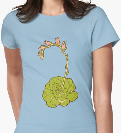 Blooming Succulent  Womens Fitted T-Shirt