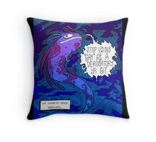 Space Axolotl and Human Rights Throw Pillow