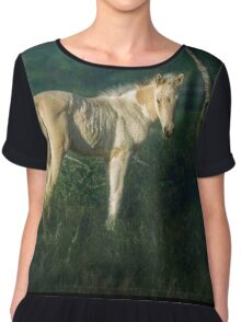 Little Blue-Eyed Filly Chiffon Top
