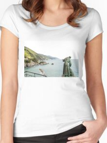 St Peter looks over the Mediterranean Women's Fitted Scoop T-Shirt