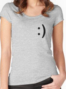 Smile Icon Women's Fitted Scoop T-Shirt