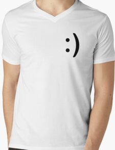 Smile Icon Mens V-Neck T-Shirt
