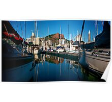Castle Hill and Yachts Poster