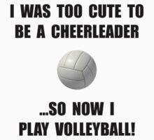 Cheerleader Volleyball Too Cute Kids Tee