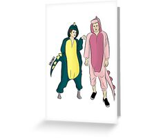dino onesies Greeting Card