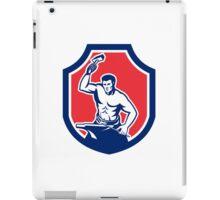 Blacksmith Striking Anvil with Hammer Shield iPad Case/Skin