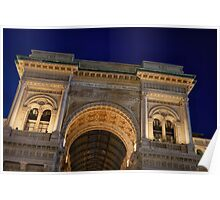 Milan Galleria Night Poster